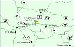 Directions to St. Germain Golf Club